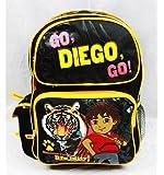 """Go Diego Go 14"""" Medium Sized School Backpack """"Siberian Tiger Big Kitty"""""""