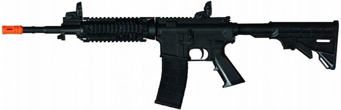 Tippmann Airsoft Rifle M4-Carbine V2 - Orange Tip Semi/Full 366-400 fps 1.5j USA