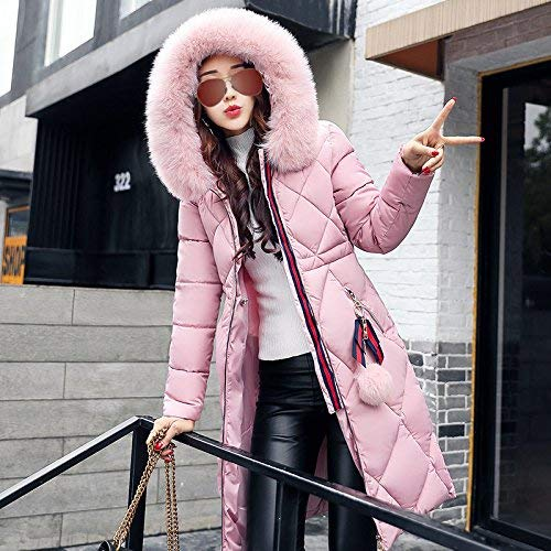 con Invierno Fashion Largos Cremallera Bolsillos Abrigo Especial Chaqueta Larga Cálido Acolchada Invierno Parkas Rosa Mujer Plumas Casual Estilo Colmar Abrigos Otoño Acolchado Manga 1TXXqz