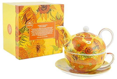 Lesser & Pavey Vincent Van Gogh Sunflower Tea For One, Yellow/Orange LP92766A