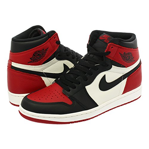 [ナイキ] NIKE AIR JORDAN 1 RETRO HIGH OG GYM RED/BLACK/SUMMIT WHITE 【BRED TOE】【つま赤】【25.0cm~28.5cm】 [並行輸入品]
