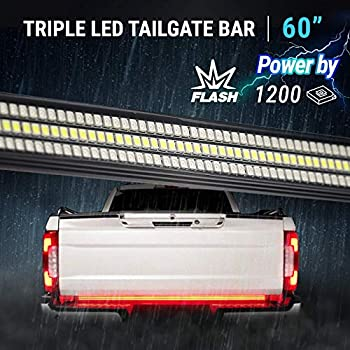 "Amazon.com: OPT7 60"" Redline Triple LED Tailgate Light Bar"
