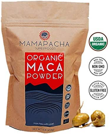 Maca Organic Powder Root 1LB - Yellow Peruvian raw Maca 100% Natural Energy Supplement /Use in Protein Smoothies & Baking/ Superfood for Weight Loss, Hormonal & Immune Health / Raw & Vegan Friendly