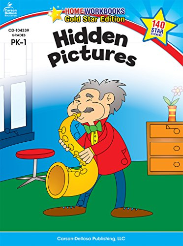 Hidden Pictures, Grades PK - 1: Gold Star Edition (Home Workbooks)