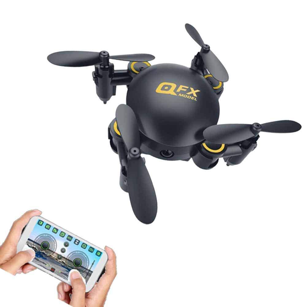 Mini Drone con cámara, FPV RC Quadcopter HD Video en Vivo con cámara HD WiFi, Altitude Hold, Modo sin Cabeza, Regreso de una tecla, Despegue/Aterrizaje de una tecla y Flips 3D