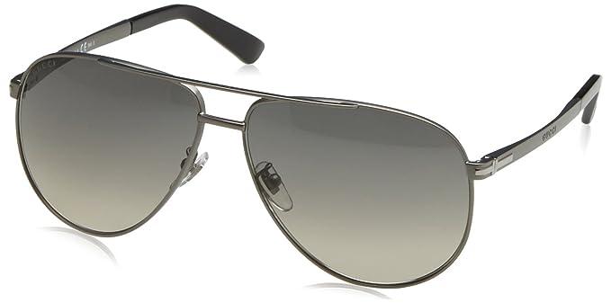 89cacb76130 Amazon.com  Gucci GG 2269 S R80DX (Matt Silver with Black Gradient ...