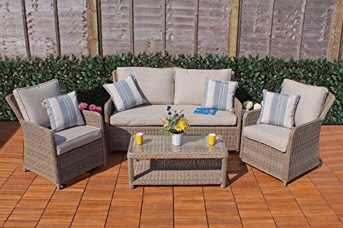 Casamore Corfú jardín salón sofá Set en ratán Weave para jardines y ...