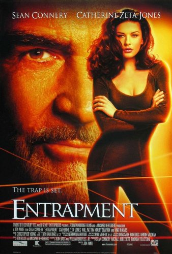 ENTRAPMENT (1999) Original Authentic Movie Poster 27x40 - Double - Sided - Catherine Zeta-Jones - Sean Connery - Ving Rhames - Will Patton