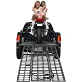 "94.5"" Black Widow HD 4-Beam Arched Folding Motorcycle Ramp"