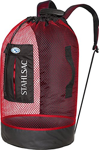 Stahlsac by Bare Panama Mesh Backpack (Black/Red)