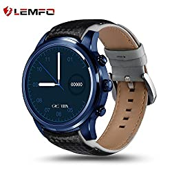 Lemfo Lem5 Pro Smart Watch 1.39 Inch 3g Smartwatch Phone Mtk6580 Quad Core 2gb 16gb Android 5.1 Gps Wifi Bluetooth Ip55 Life Waterproof - Blue