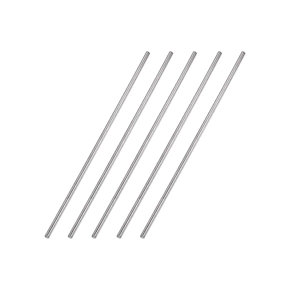 5pcs uxcell 2.5mm x 150mm 304 Stainless Steel Solid Round Rod for DIY Craft