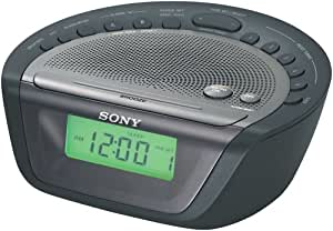 sony icf c263 am fm clock radio with digital tuner black discontinued by. Black Bedroom Furniture Sets. Home Design Ideas