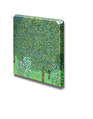 Rosebushes Under The Trees by Gustav_Klimt Print Famous Painting Reproduction