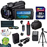 Sony 96GB HDR-PJ790 HD Handycam Camcorder/ Projector with Best Value Accessory Kit Includes - 16GB High Speed Error Free SDHC Memory Card + SDHC Card Reader + 52MM 3 Piece Pro Filter Kit (UV, CPL, FLD) + Sony FV70 Extended Life Replacement Battery + Rapid