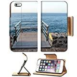 Liili Premium Apple iPhone 6 Plus iPhone 6S Plus Flip Pu Leather Wallet Case Sunrise on a Pier over Atlantic Ocean in Tenerife Canary Islands Spain 29276554