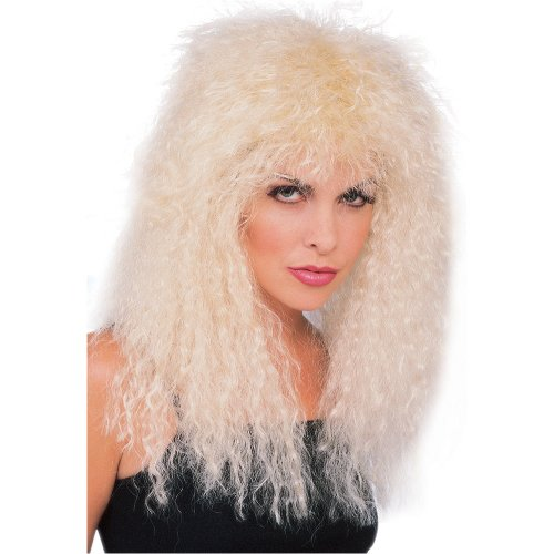 [Rubie's Costume New Wave Rocker Blond Wig, Yellow, One Size] (80s Metal Costumes)
