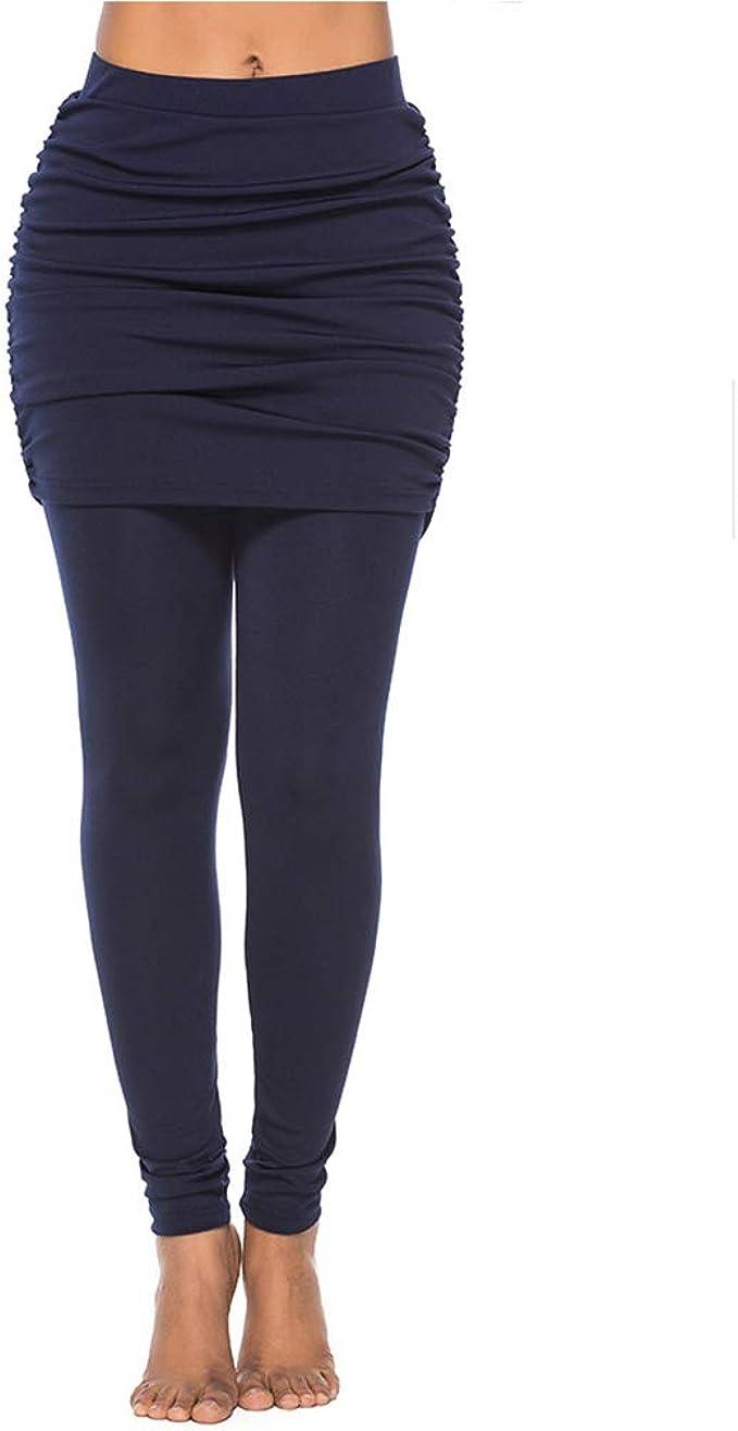 Gonna Pantalone Donna Leggings Sportivi Push Up Fitness Corsa Allenamento Compressione Jogging Pantaloni Yoga Vita Alta Gonna Leggings