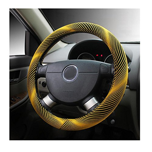 Yellow Stitch Steering Wheel - 7