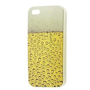Burbuja patrón protector anti del polvo amarillo TPU caja de plástico para el iPhone 5 5G