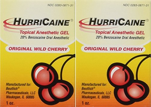 - Beutlich LP Pharmaceuticals Hurricaine Topical Anesthetic Gel, Wild Cherry, 1 Ounce- Pack of 2