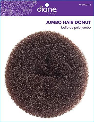 Diane Jumbo Hair Donut, Brown, 5.5 Inch