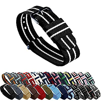 BARTON Watch Bands - Choice of Color, Length & Width (18mm, 20mm, 22mm or 24mm) - Ballistic Nylon Straps from Barton Watch Bands