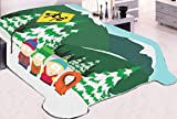 OFFICIAL South Park ORIGINAL Warm Fleece Throw Wall Hanging Tapestry Blanket with Stan, Kyle, Cartman and Kenny