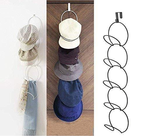 Gwill Over the Door Hat Racks for Caps Baseball Hanging Holder Metal Scarf Hanger Organizer