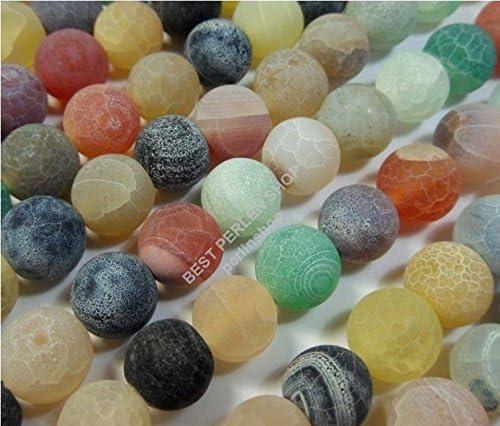 Perle di agata da 6 mm opache R85 pietre semipreziose colorate per la creazione di gioielli