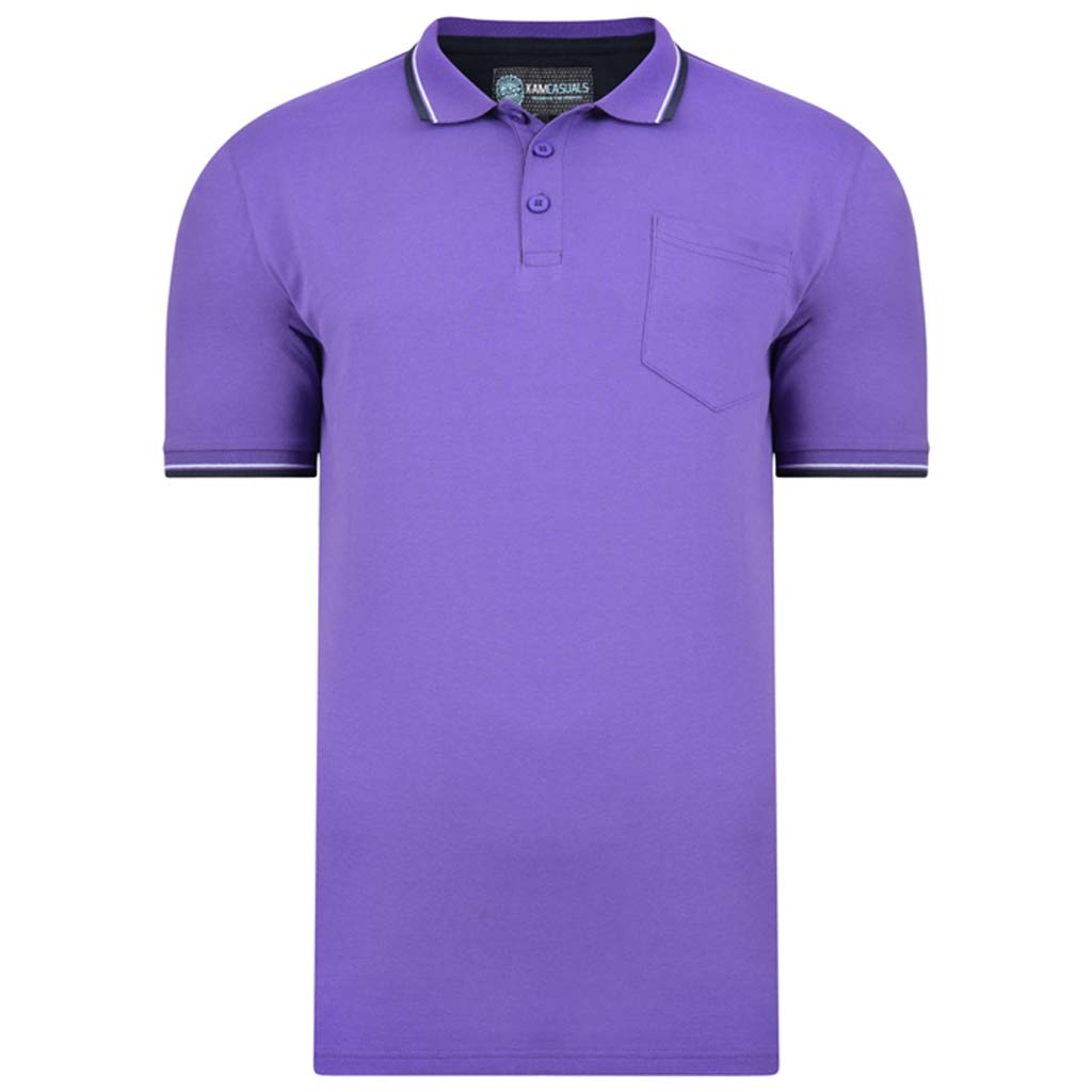 Kam Fashion Plain Polo 6XL Violet: Amazon.es: Ropa y accesorios
