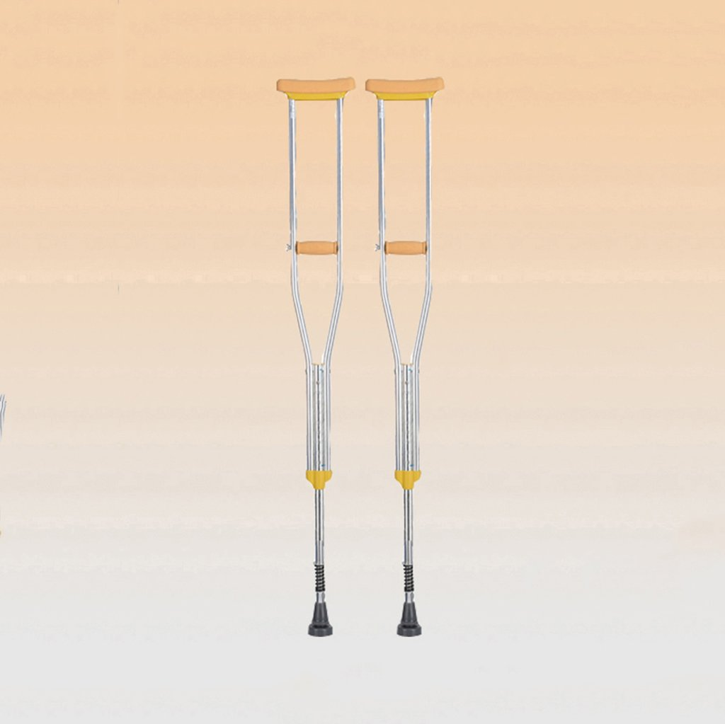 NUBAO 障害のある人のための障害のある人のための障害のある松葉杖/杖自由な伸縮性のあるスプリング付き調節可能な範囲106154 Cm(41.73-60.63インチ) (色 : シングル, サイズ さいず : (2)) B07D22LVBY (2)|シングル シングル -2