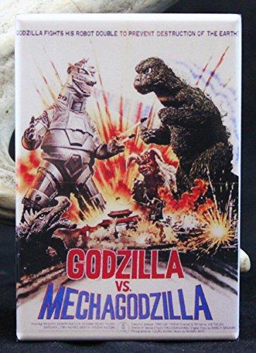 Godzilla Vs. MechaGodzilla Movie Poster - Refrigerator Magnet. (Godzilla Magnet)