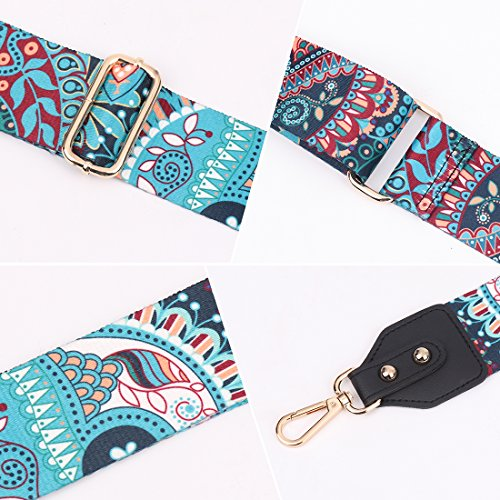 Louty 2'' Wide Adjustable Handbag Purse Strap Replacement Guitar Style Multicolor Canvas Crossbody Bag Straps by LOUTY (Image #4)