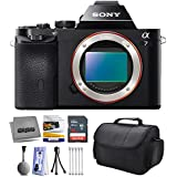 Sony a7 Full-Frame 24.3 MP Mirrorless Interchangeable Digital Lens Camera - Body Only (ILCE7) with Starter Accessories Bundle Kit includes 16GB Class 10 SDHC Memory Card + Hard Shell Carrying Case + Camera Lens Cleaning Kit + Bonus $50 Gift Card for Digital Prints