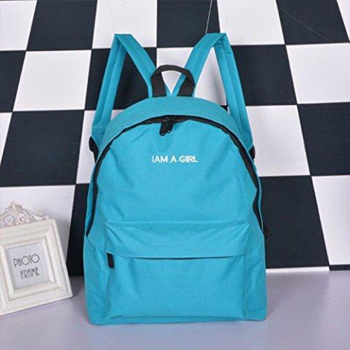 Lona Hombro Mochila niños niñas Azul Rosa Escolar Mochila Unisex Bolsas Libro Malloom qn7tw5CUI8