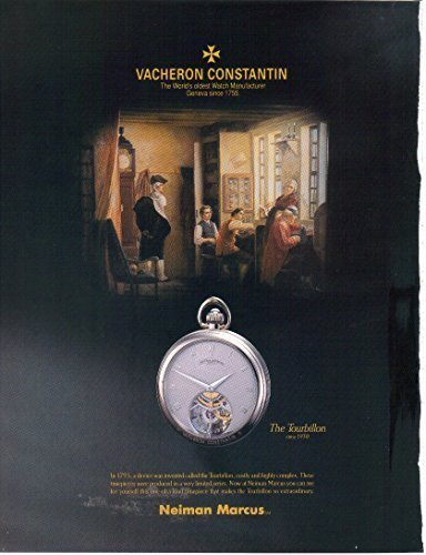 COLLECTIBLE ADVERTISING Magazine Print Ad/Insert: Jean-Marc Vacheron, Geneve, Vacheron Constantin Watches, The Tourbillon, Kalla, Phidias, Malta, Regent Kalla (NOT AN OFFER FOR A WATCH)