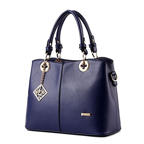 andee-womens-fashionable-noble-pu-leather-metal-decoration-tote-bagsnavy