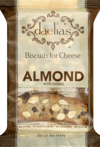 Daelia's Biscuits for Cheese Almond with Raisins, 4-Ounce (Pack of 4) (Cheese Best Biscuits)