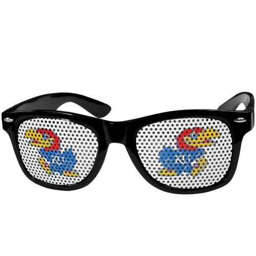 NCAA Kansas Jayhawks Game Day Shades, - Jayhawks Sunglasses Black Kansas