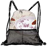 Best b.m.c Shoulder Bags - Sport Drawstring Backpack Sport Gym Bag Beatybag,Carp Cherry Review