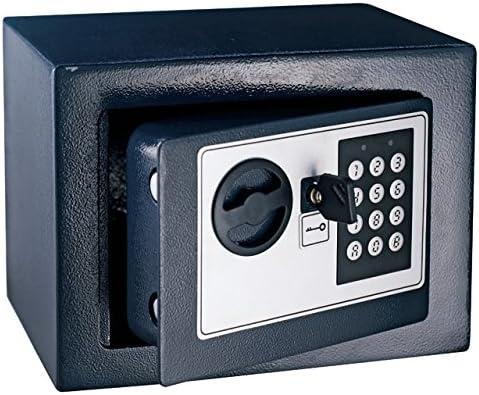 Caja fuerte con combinación de mesa pequeña (23 x 17 x 17 cms: Amazon.es: Bricolaje y herramientas