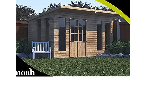 Bernard 8 x 8 - Caseta, taller, garaje de jardín de madera resistente: Amazon.es: Jardín