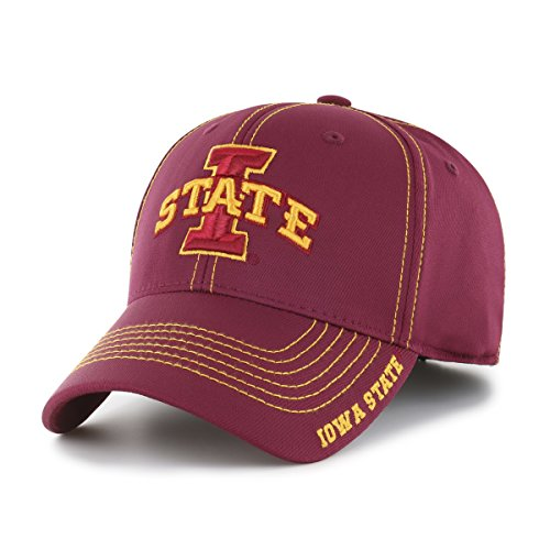 Nfl Cyclones State Iowa (OTS NCAA Iowa State Cyclones Adult Start Line Center Stretch Fit Hat, Large/X-Large, Cardinal)