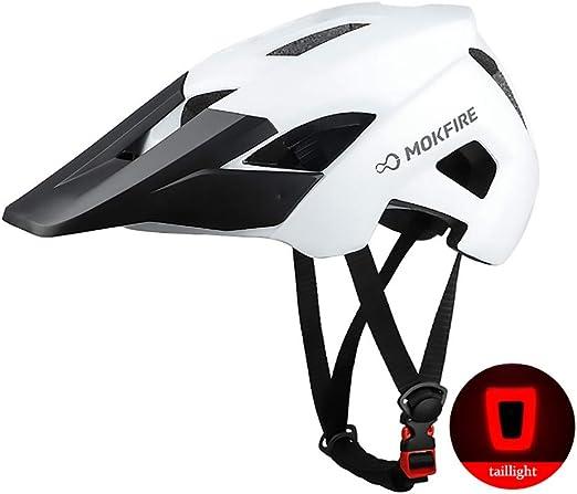 ZXASDC Casco Bicicleta, 52~60cm Casco Luz de la Cola Bicicleta de ...