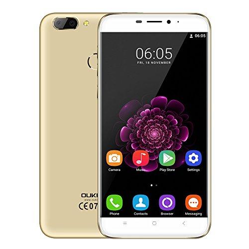 Oukitel U20 Plus 4G Smartphone - 5.5 Zoll FHD Android 6.0 13.0MP+0.3MP Dual-Lens Hauptkamera Quad-Core 1,5 GHz CPU 2GB RAM+16GB ROM 3300mAh Batterie Fingerabdrucksensor Ohne Vertrag