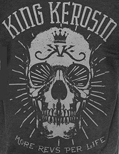 SKULL-MRPL-Vintage Shirt KING KEROSIN in Schwarz Schwarz M