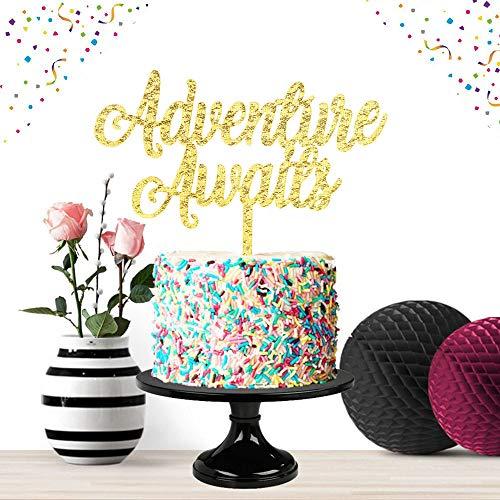 - Adventure Awaits Gold Cake Topper Party Decor 2019 Congrats Grad Photo Prop High School Graduation Celebration