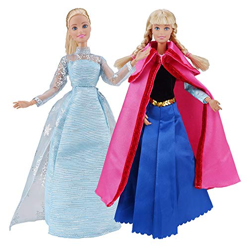 E-TING Beautiful Queen Snow Princess's Doll Clothes and Princess's Dress Up for 11.5 inch Doll Clothes