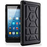 Poetic TurtleSkin All-New Amazon Fire HD 8 2017 Rugged Case Heavy Duty Silicone and Sound-Amplification feature Cover for Amazon Fire HD 8 2017 (7th Generation,2017 Release) Black